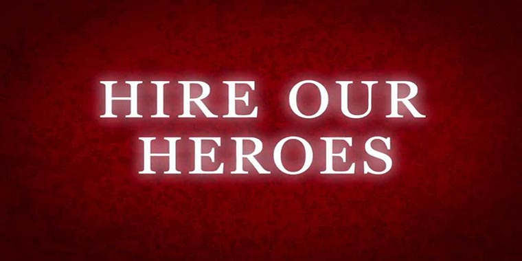 link to hire our heroes video